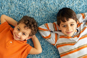 brothers on carpet